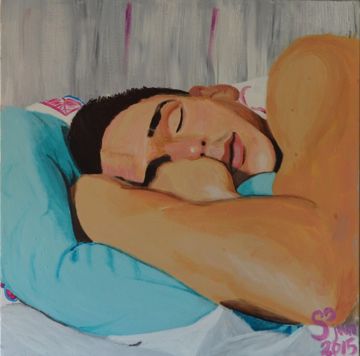 2015-06 Sleeping Boy 500x500 Akryl på canvas